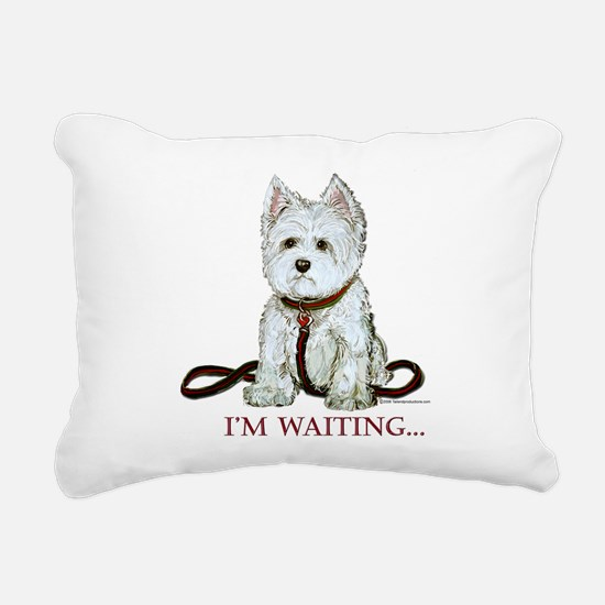 Westie waiting 9x9 2006.png Rectangular Canvas Pil