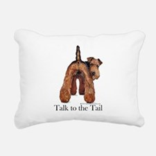 Airedale Terrier Talk Rectangular Canvas Pillow