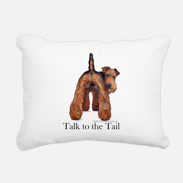 Airedale Terrier Talk Rectangular Canvas Pillow