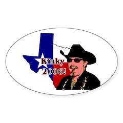 Texas Governor '06 Oval Decal