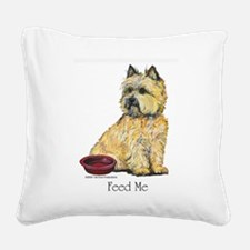 Feed Me Square Canvas Pillow