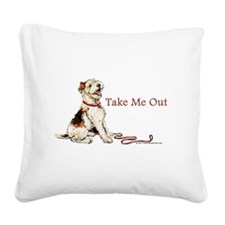 1 Take me out.png Square Canvas Pillow
