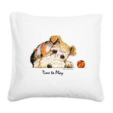 Wire w Ball 10x10 B.png Square Canvas Pillow