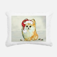 Pommy in the snow 2.png Rectangular Canvas Pillow