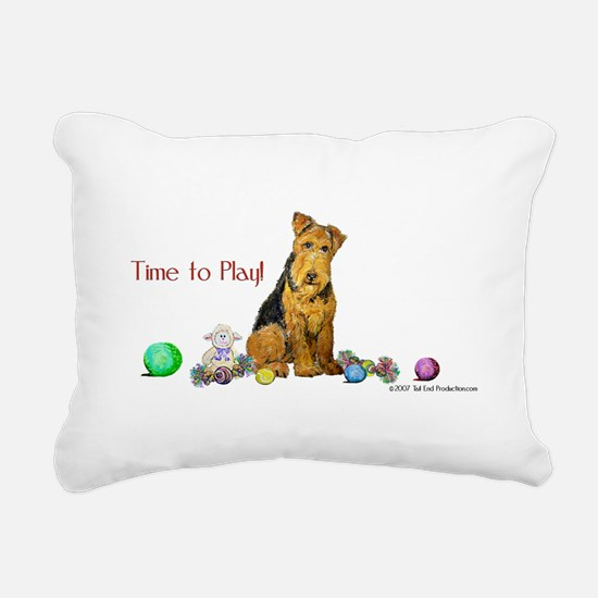 Time to Play 2007.png Rectangular Canvas Pillow