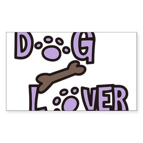 Dog Lover Sticker (Rectangle)