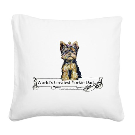 Worlds greatest Dad.png Square Canvas Pillow