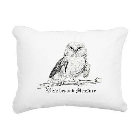 Wise owl 2006.png Rectangular Canvas Pillow
