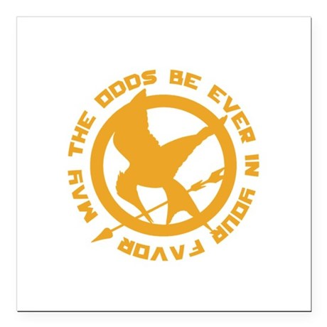 """Hunger Games May the Odds Square Car Magnet 3"""" x 3"""