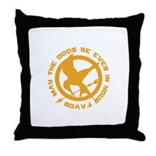 Hunger Games May the Odds Throw Pillow