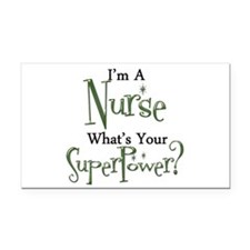 Super Nurse Rectangle Car Magnet