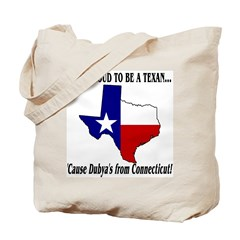Proud Texan, Dubs not. Tote Bag