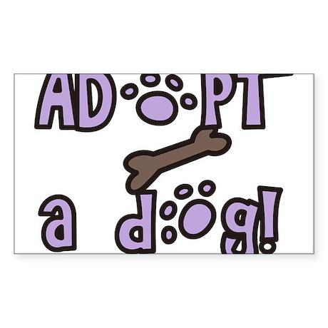 Adopt A Dog Sticker (Rectangle)