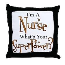 Super Nurse Throw Pillow