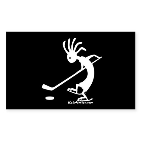 Kokopelli Hockey Player Rectangle Sticker
