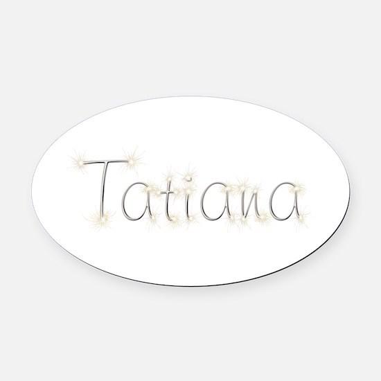 Tatiana Spark Oval Car Magnet