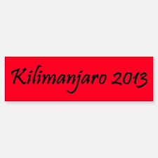 Kilimanjaro 2013 Bumper Bumper Sticker