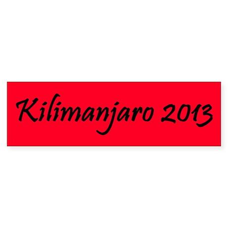 Kilimanjaro 2013 Sticker (Bumper)