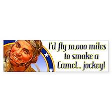 I'd fly 10,000 miles Bumper Bumper Sticker