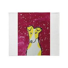 Yellow Dog Throw Blanket