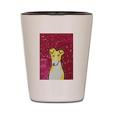 Yellow Dog Shot Glass
