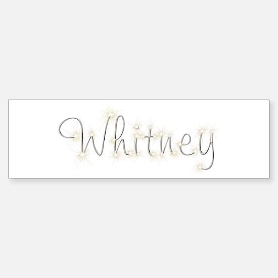 Whitney Spark Bumper Car Car Sticker
