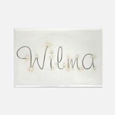Wilma Spark Rectangle Magnet