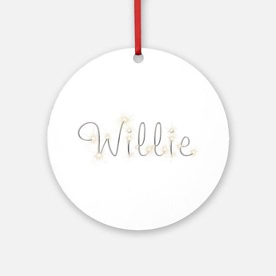 Willie Spark Round Ornament