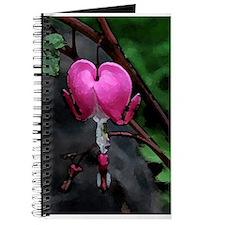 bleeding heart watercolor Journal