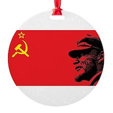 Lenin Soviet Flag Ornament