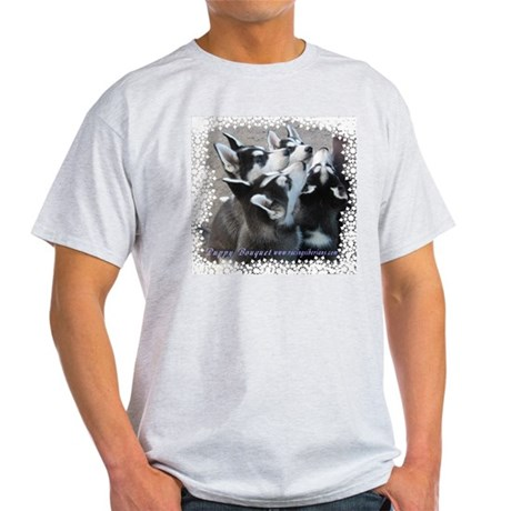 Husky Puppy Ash Grey T-Shirt