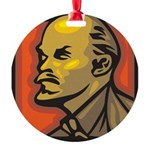 Lenin Round Ornament
