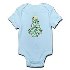 Swirly Christmas Tree Infant Bodysuit