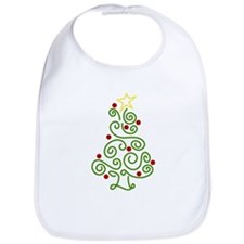 Swirly Christmas Tree Bib