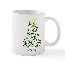 Swirly Christmas Tree Mug