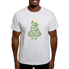 Swirly Christmas Tree T-Shirt