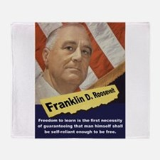 Freedom To Learn - FDR Throw Blanket