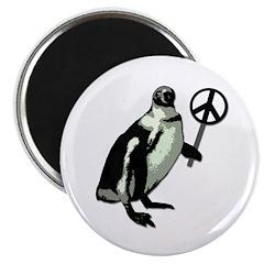 Peace Penguin Refrigerator Magnet