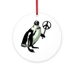 Peace Penguin Christmas Ornament