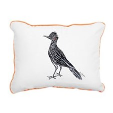 cool desert roadrunner Rectangular Canvas Pillow