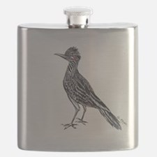 cool desert roadrunner Flask