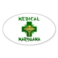 Medical Marijuana Cross Decal
