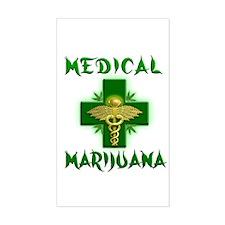 Medical Marijuana Cross Decal