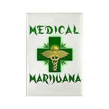 Medical Marijuana Cross Rectangle Magnet