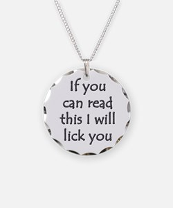 read for licks Necklace