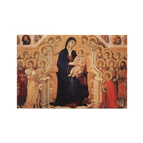 Mary with Saints Rectangle Magnet