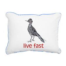 live fast Rectangular Canvas Pillow