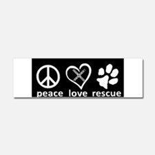 Peace love Car Magnet 10 x 3