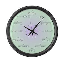 Math Clock Large Wall Clock