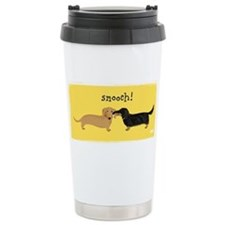 Cute Dog kiss Travel Mug